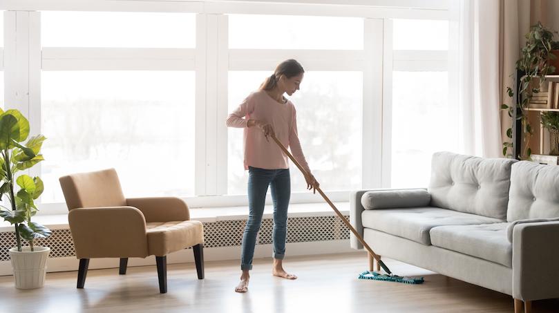 limpieza del suelo laminado