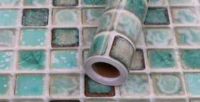 Suelo vinílico en rollo mosaico